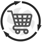 HVAC sales installation icon